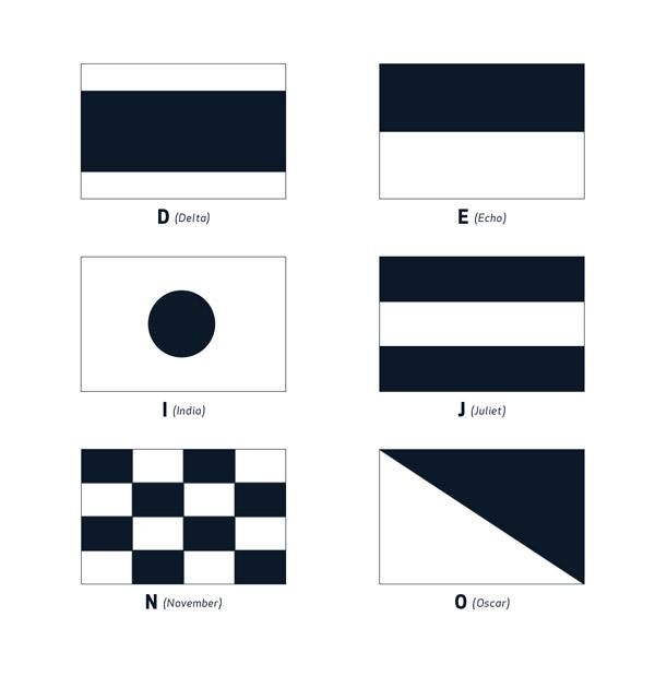 The international maritime signal flags